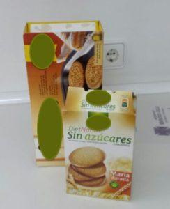 Cajas de galletas sometidas a la comparación