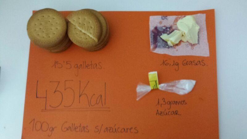 Análisis nutricional galletas sin azúcar