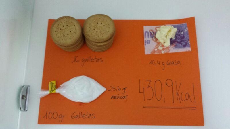 Analisis nutricional galletas normales