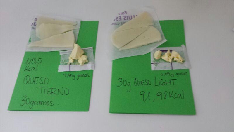 Comparación de ambos quesos